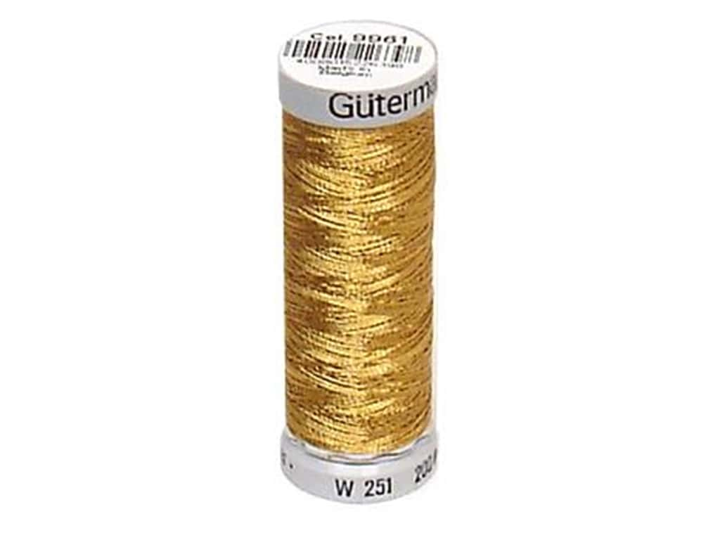Gutermann Decor Metallic Thread 219 yd. Copper Gold