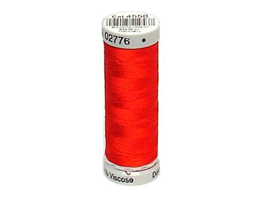 Gutermann Dekor Rayon Embroidery Thread 220 yd. #4550 Tomato Red