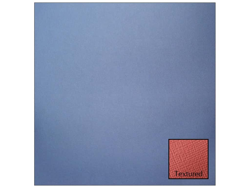 American Crafts 12 x 12 in. Cardstock - Textured Denim (25 sheets)