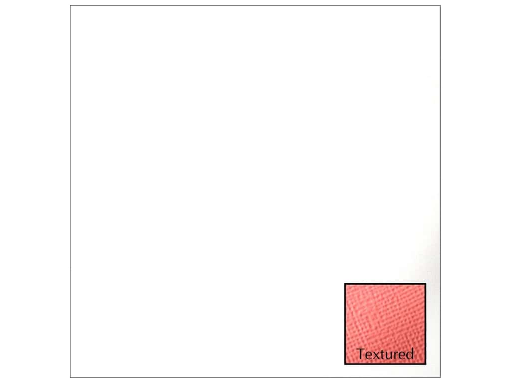 American Crafts 12 x 12 in. Cardstock Textured White (25 sheets)