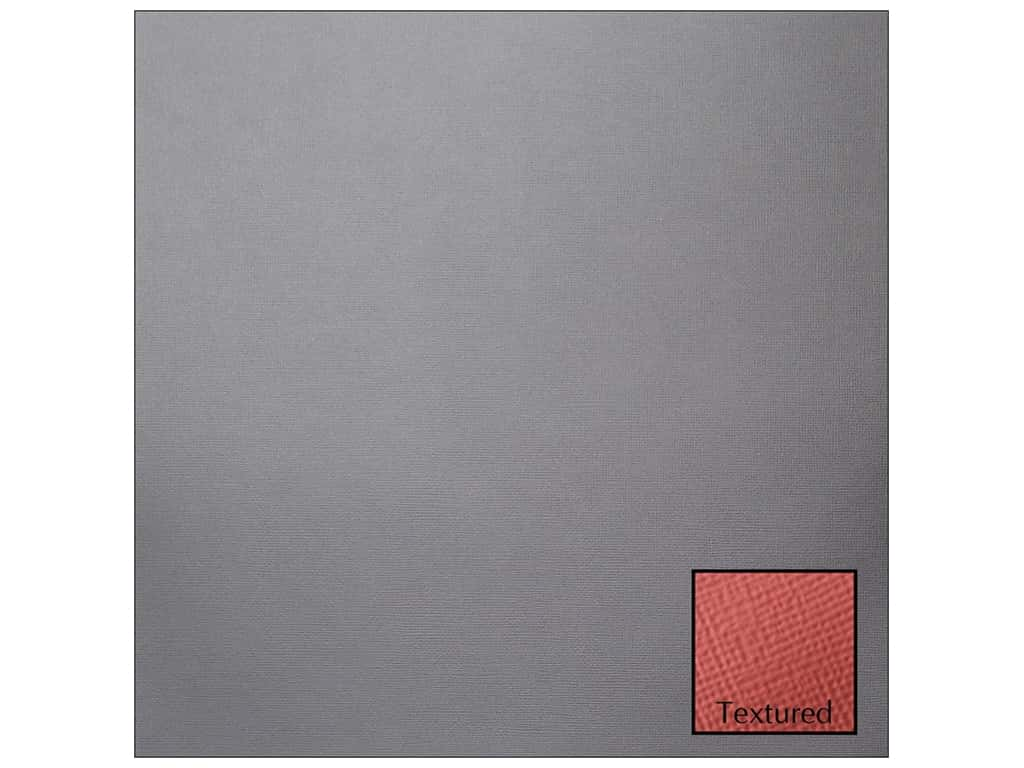 American Crafts 12 x 12 in. Cardstock - Textured Graphite (25 sheets)