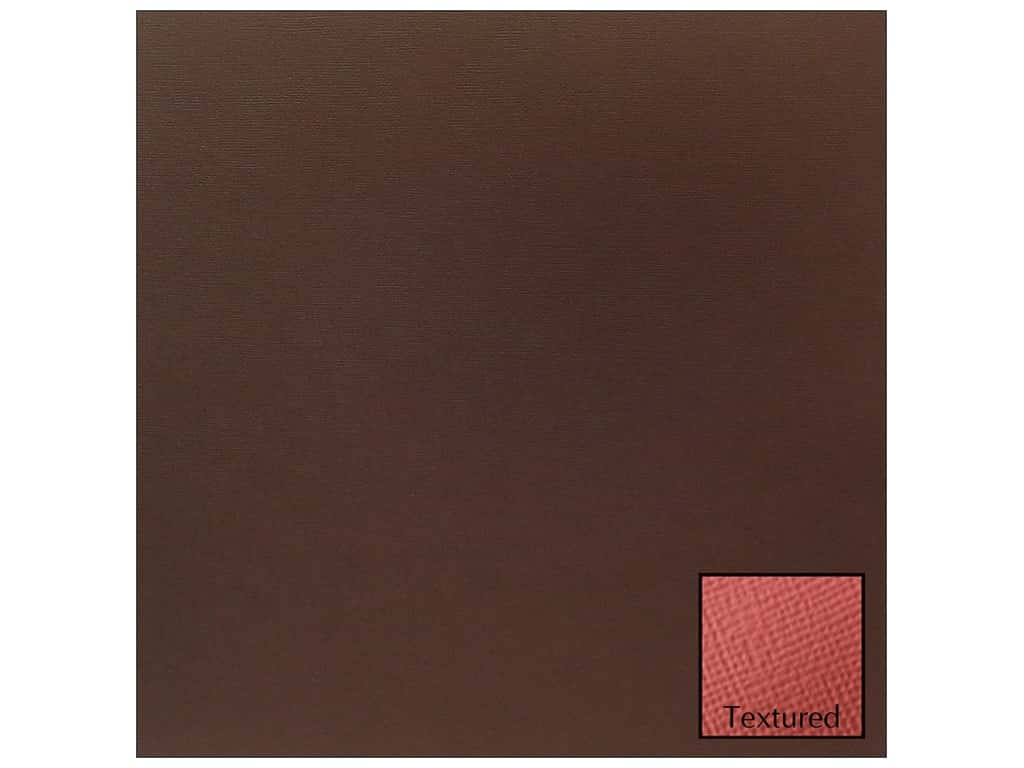 American Crafts 12 x 12 in. Cardstock - Textured Coffee (25 sheets)