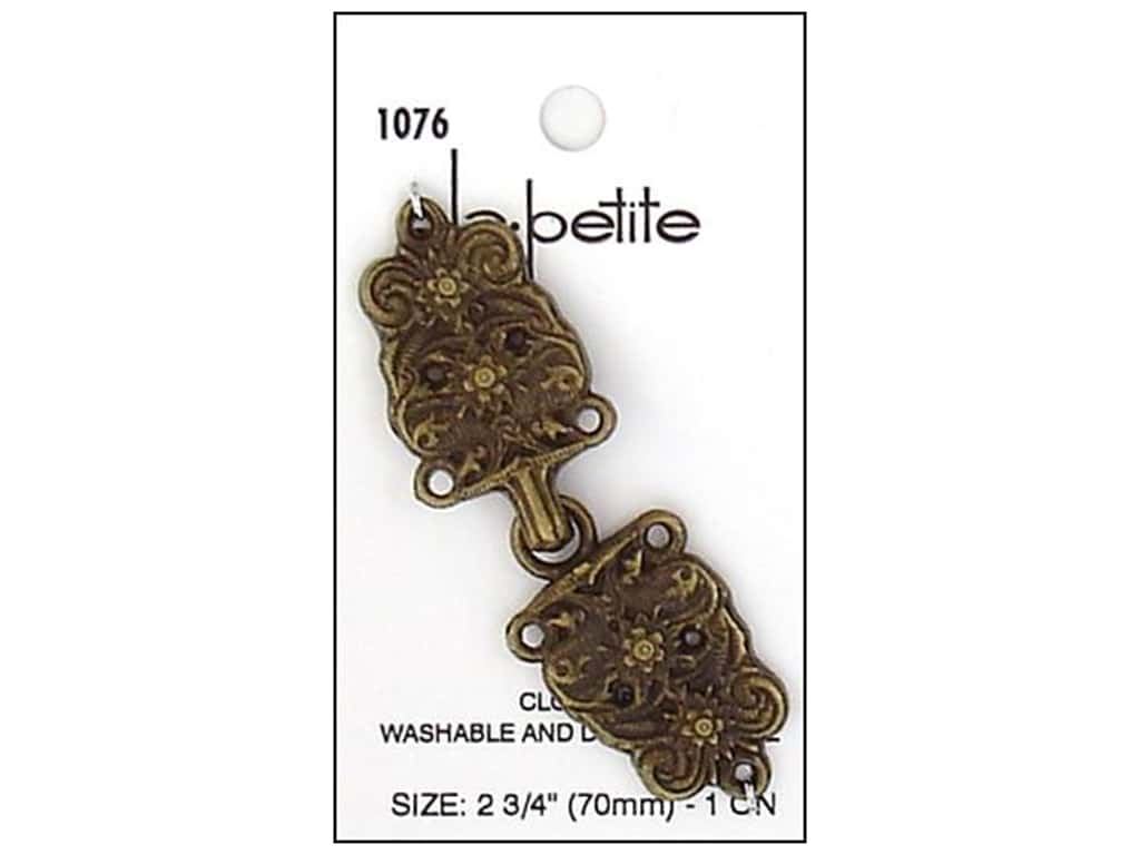 LaPetite Closure 2 3/4 in. Antique Gold #1076 1pc.