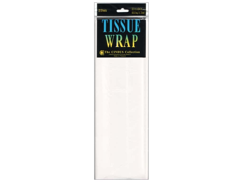 Tissue Paper by Cindus 20 x 20 in. Solid White. 20 pc.