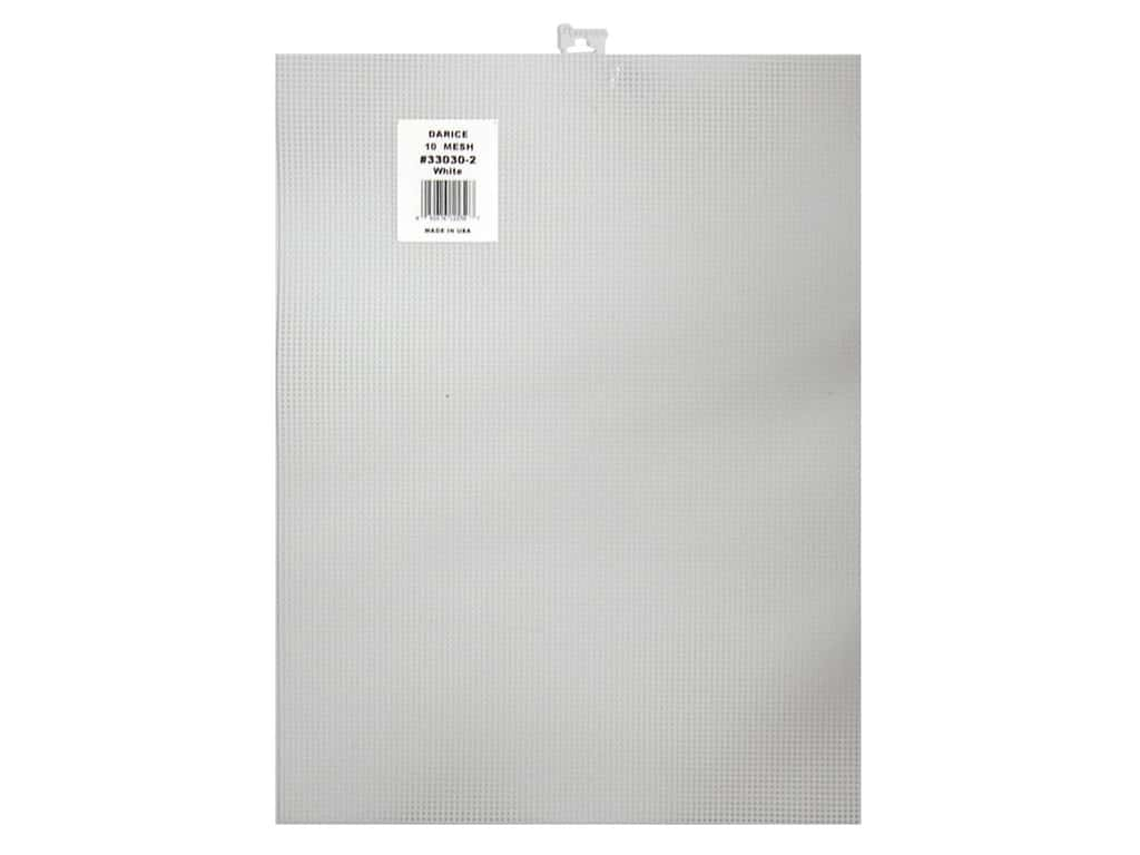 Darice Plastic Canvas #10 Mesh 10 1/2 x 13 1/2 in. White (12 pieces)