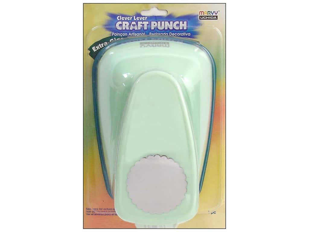 Uchida Clever Lever Extra Giga Craft Punch 3 1/2 in. Scallop Circle