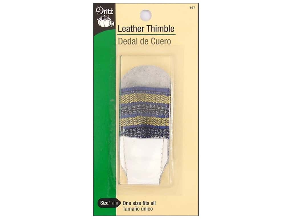 Leather Thimble by Dritz with Elastic Band
