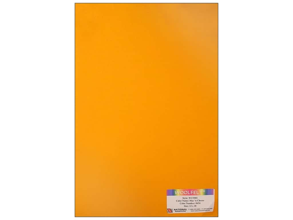 National Nonwovens 20% Wool Felt 12 x 18 in. Mac N Cheese (10 sheets)