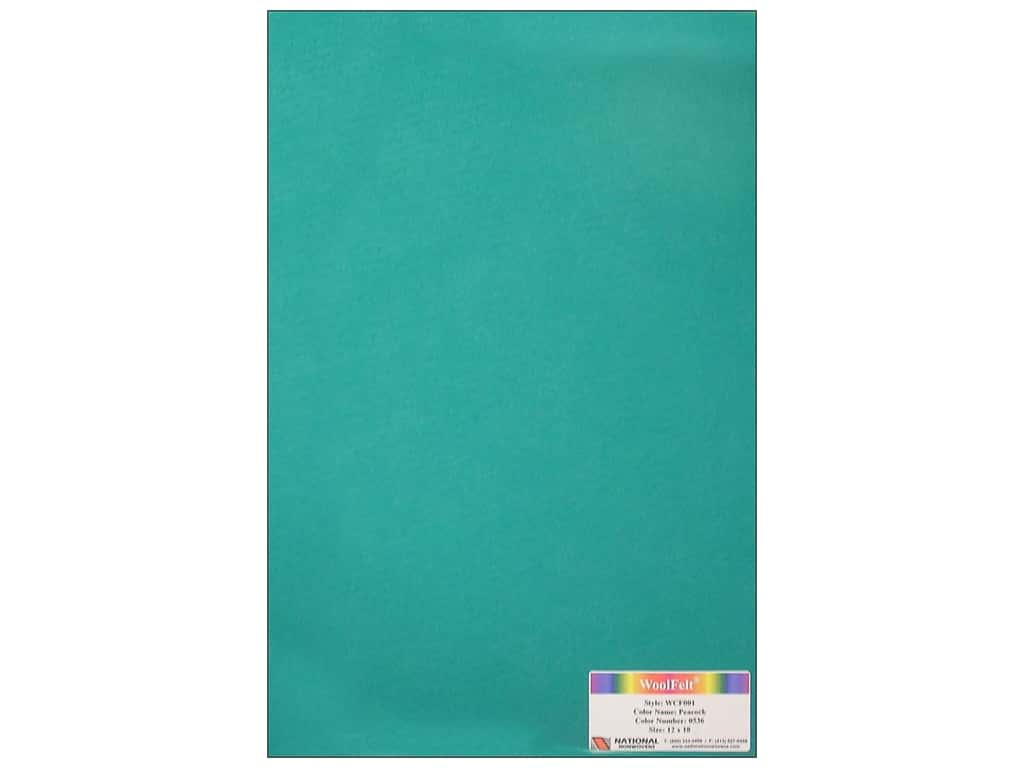 National Nonwovens 20% Wool Felt 12 x 18 in. Peacock (10 sheets)