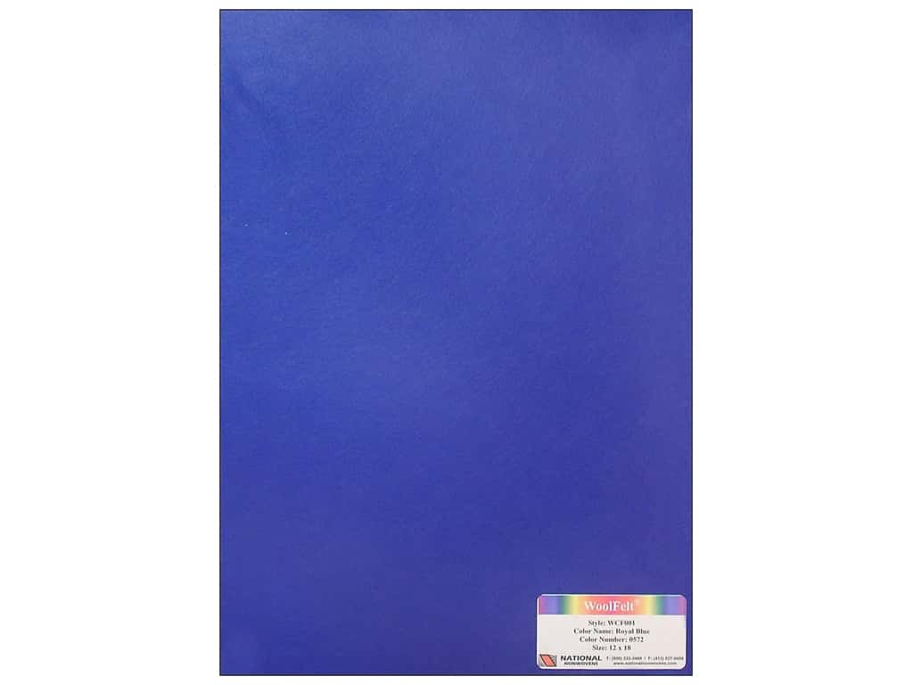 National Nonwovens 20% Wool Felt 12 x 18 in. Royal Blue (10 sheets)