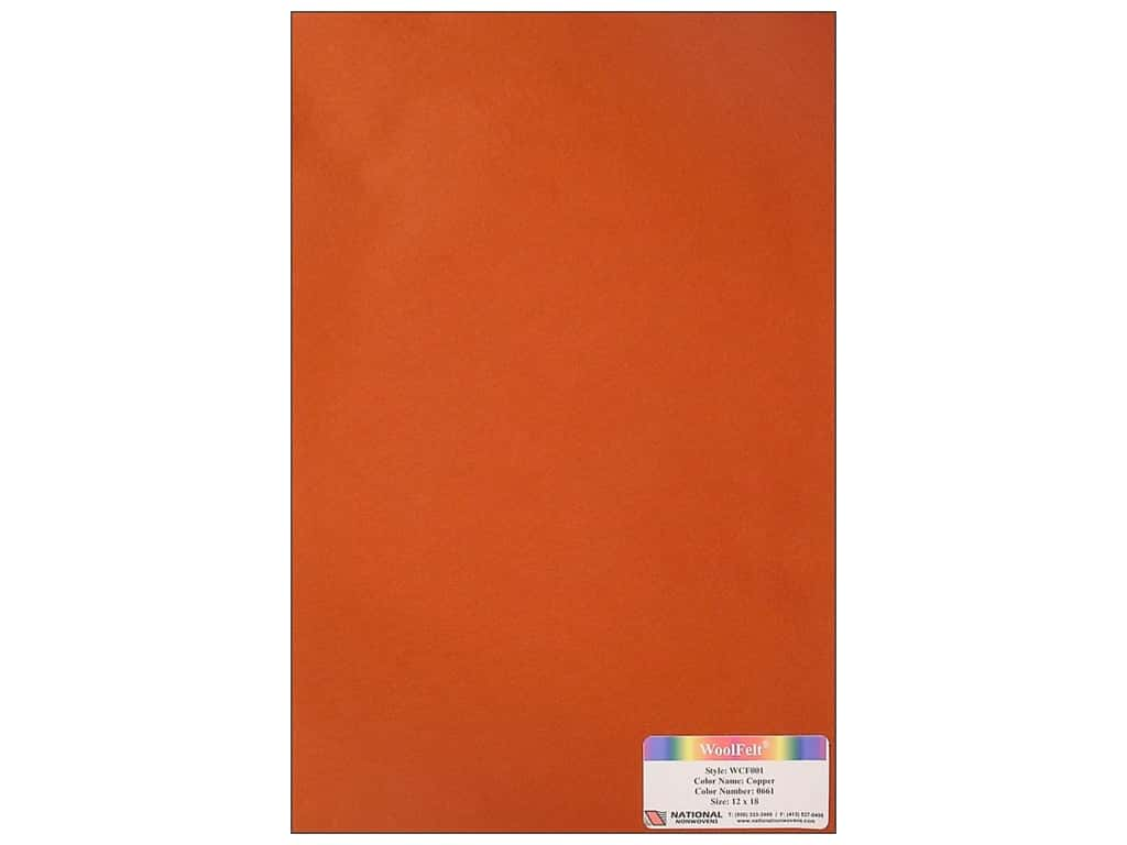 National Nonwovens 20% Wool Felt 12 x 18 in. Copper (10 sheets)