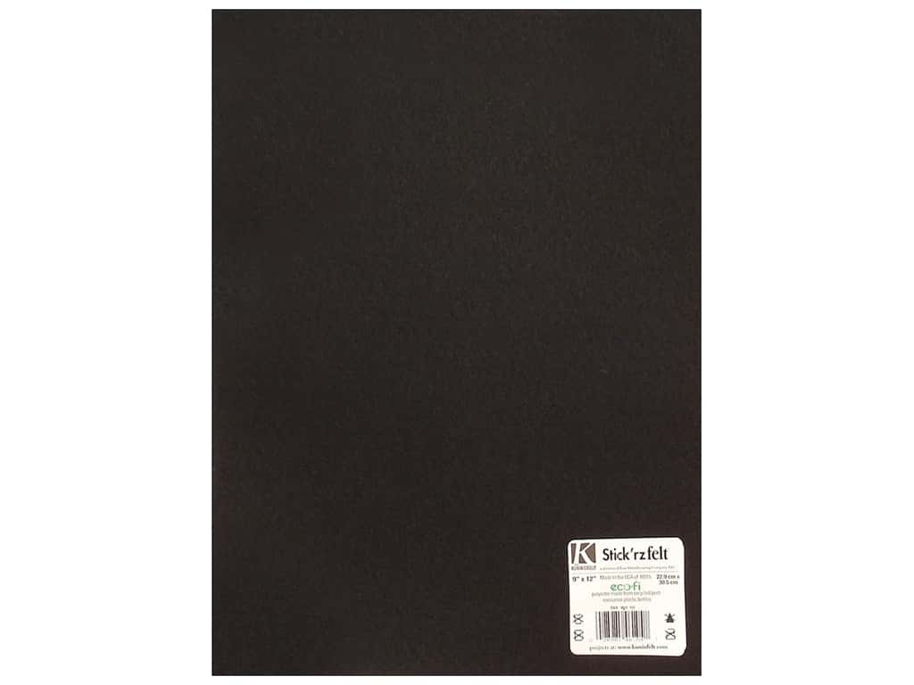Kunin Stick'rz Stiffened Adhesive Felt 9 x 12 in. Black