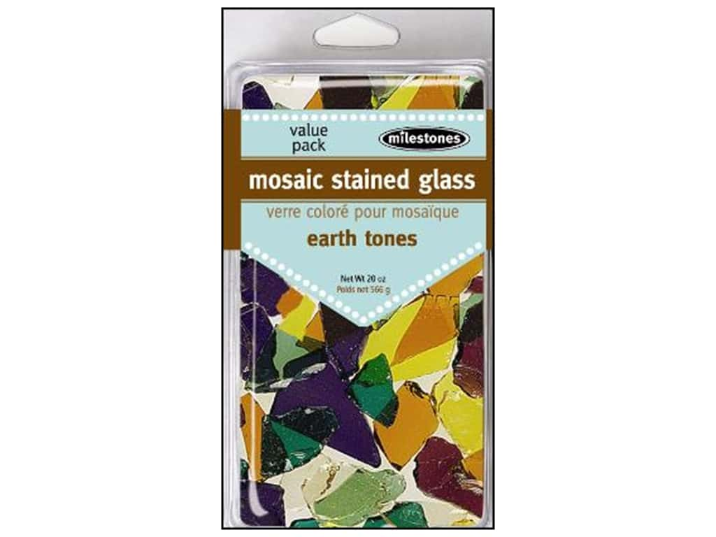 Milestones Mosaic Stained Glass Mix  - Earth Tone