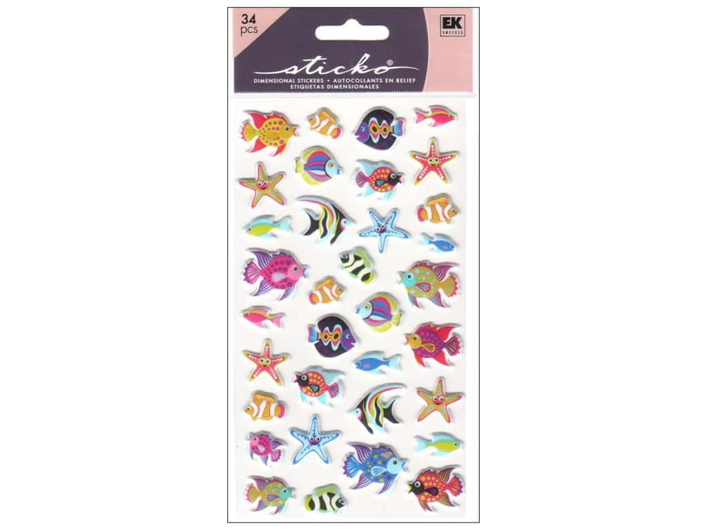 Sticko Puffy Stickers - Tropical Fish