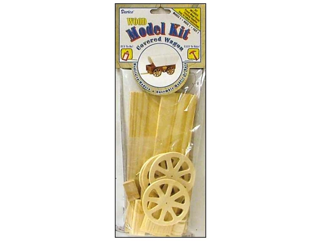 Darice Wood Model Kit Covered Wagon 2 1/2 x 4 1/2 in.