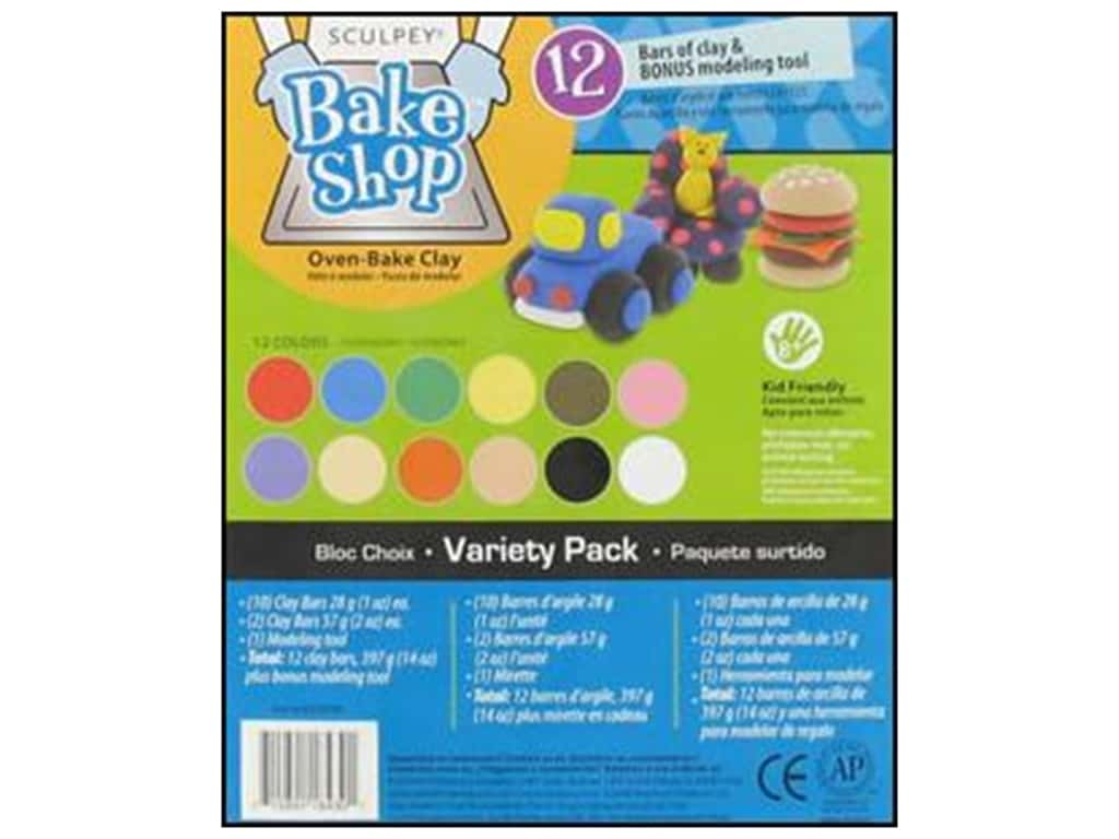 Sculpey Bake Shop Clay Variety Pack 12 pc.