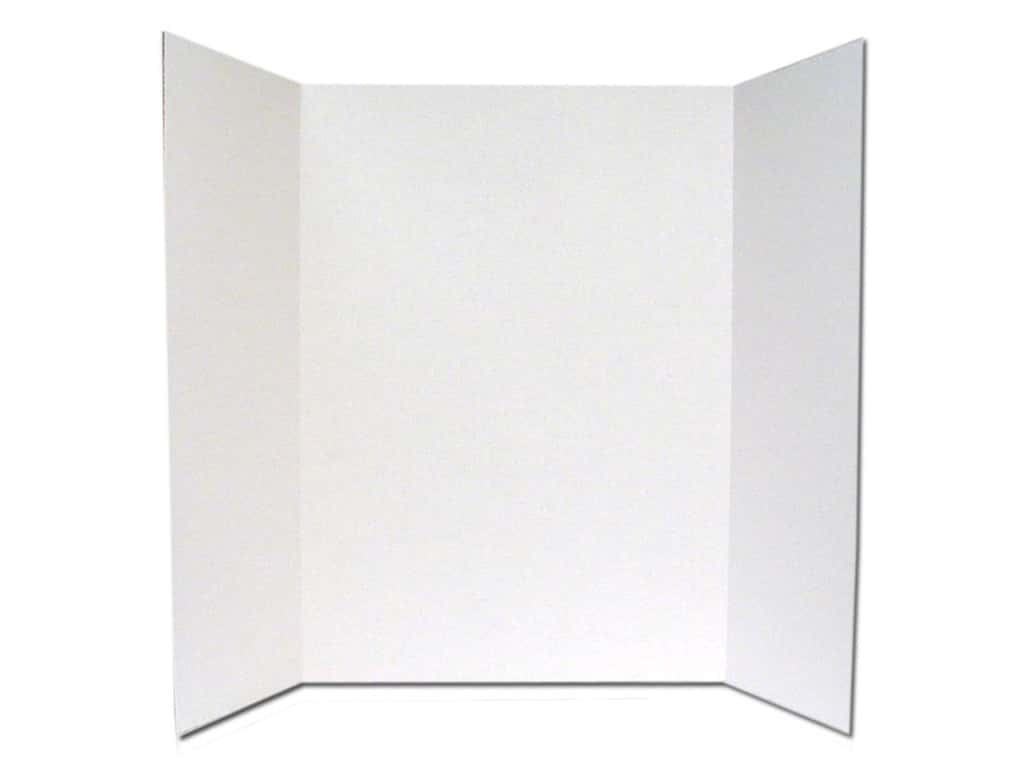 Elmer's Tri-Fold Display Board 28 x 40 in. White