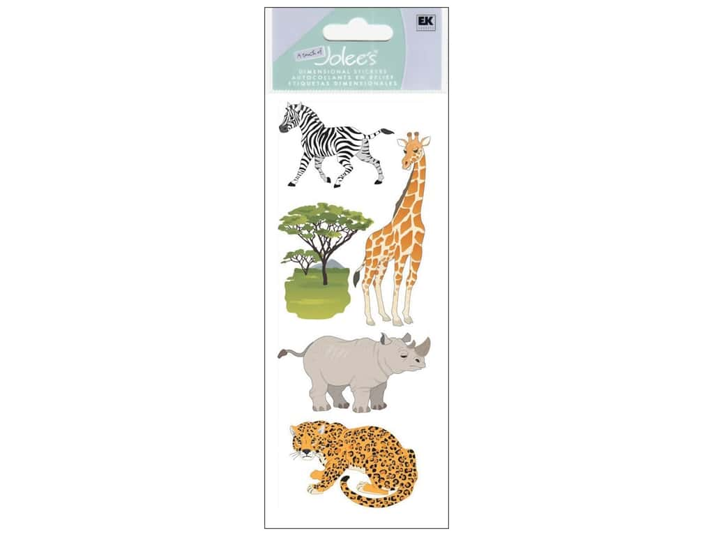 EK A Touch of Jolee's 3D Sticker Safari Animals