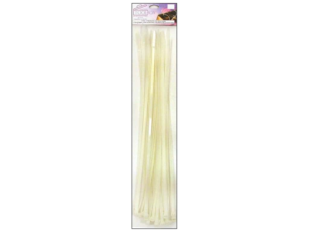 """Darice Locking Cable Ties 12"""" Clear 24pc"""