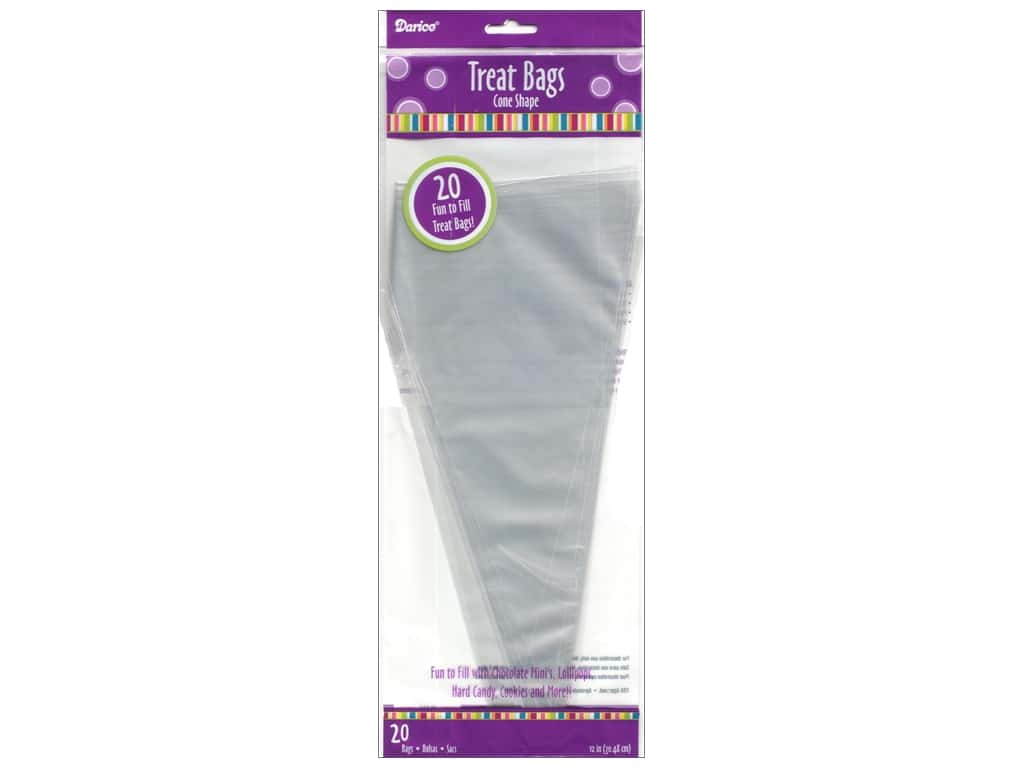 Darice Treat Bags 12 in. Cone Shape 20 pc.