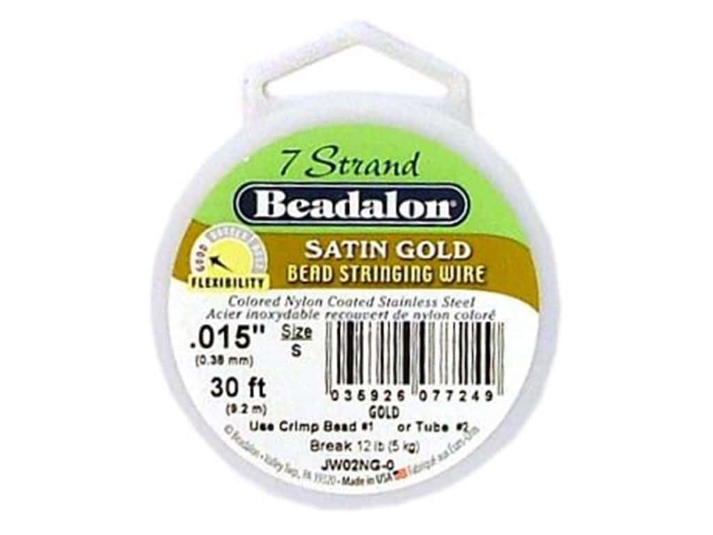 Beadalon Bead Wire 7 Strand .015 in. Satin Gold 30 ft.