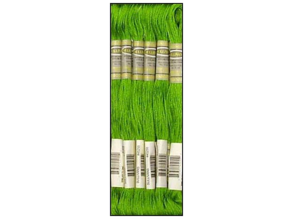 Sullivans Six-Strand Embroidery Floss 8.7 yd. Medium Parrot Green (12 skeins)