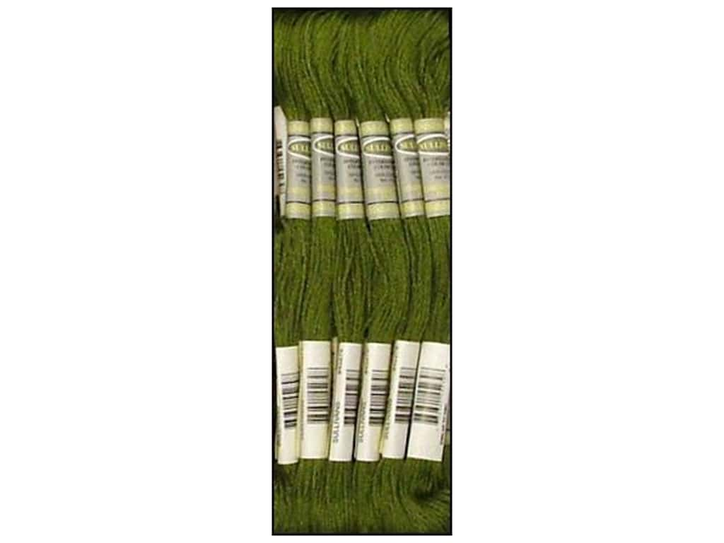 Sullivans Six-Strand Embroidery Floss 8.7 yd. Medium Avocado Green (12 skeins)