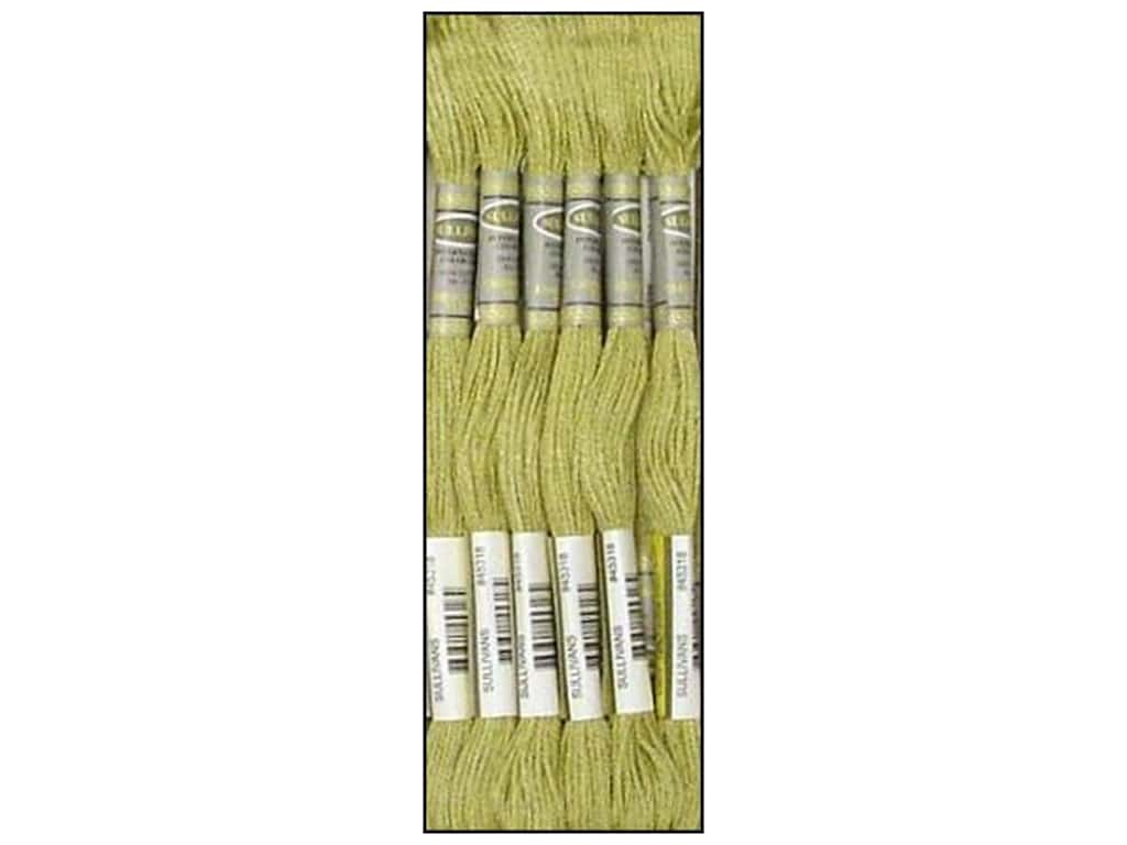Sullivans Six-Strand Embroidery Floss 8.7 yd. Light Khaki Green (12 skeins)