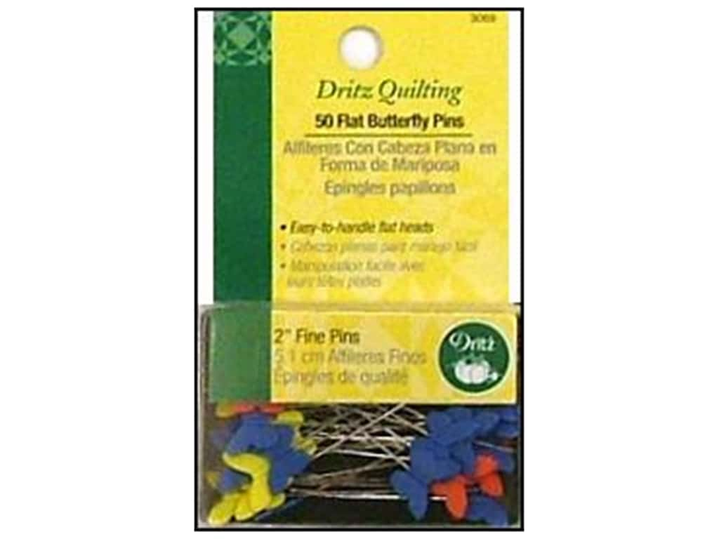 Dritz Flat Butterfly Pins 2 in. Fine 50 pc.