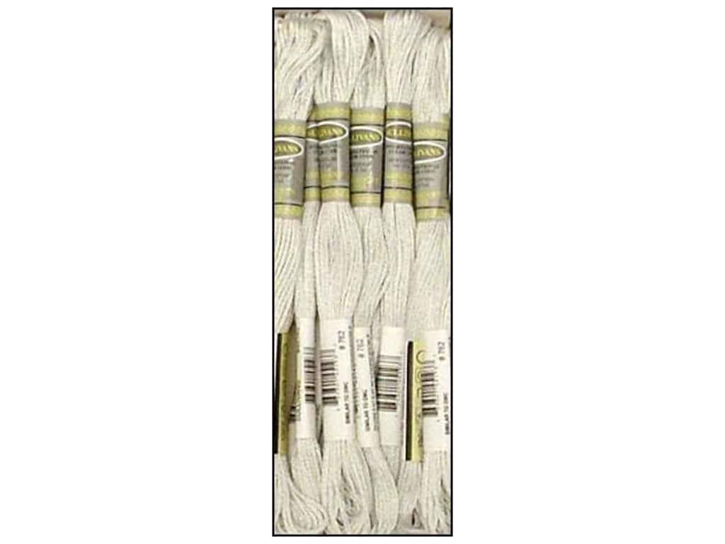 Sullivans Six-Strand Embroidery Floss 8.7 yd. Very Light Pearl Grey (12 skeins)
