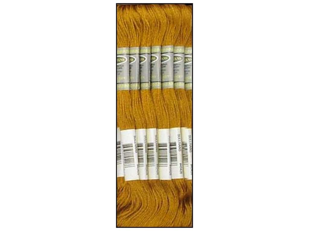 Sullivans Six-Strand Embroidery Floss 8.7 yd. Very Dark Old Gold (12 skeins)