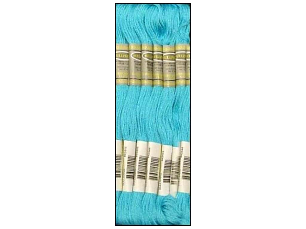 Sullivans Six-Strand Embroidery Floss 8.7 yd. Light Bright Turquoise (12 skeins)