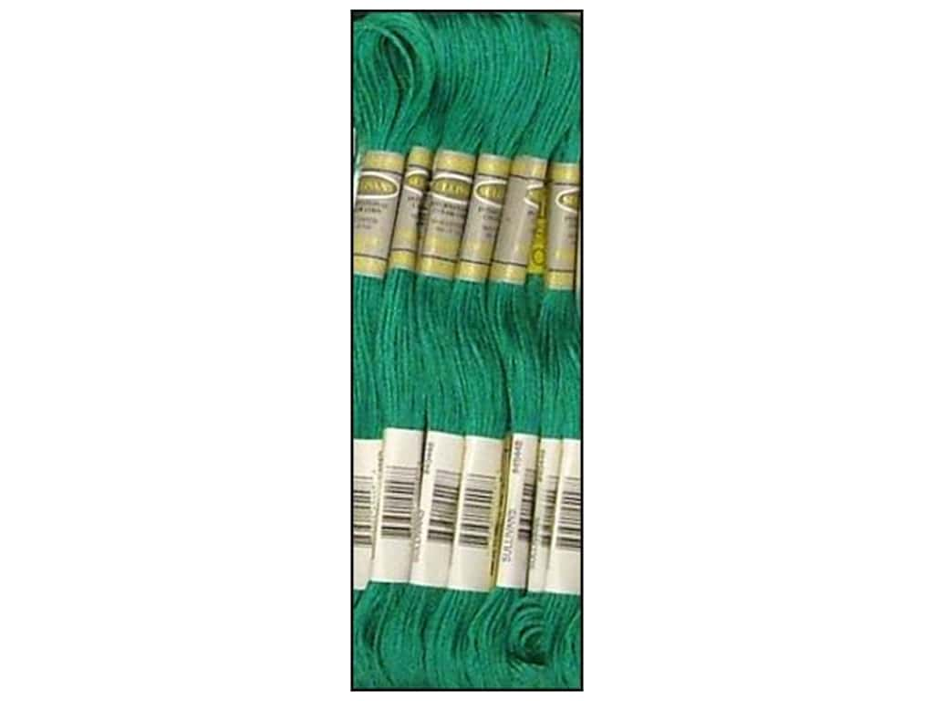 Sullivans Six-Strand Embroidery Floss 8.7 yd. Dark Bright Green (12 skeins)