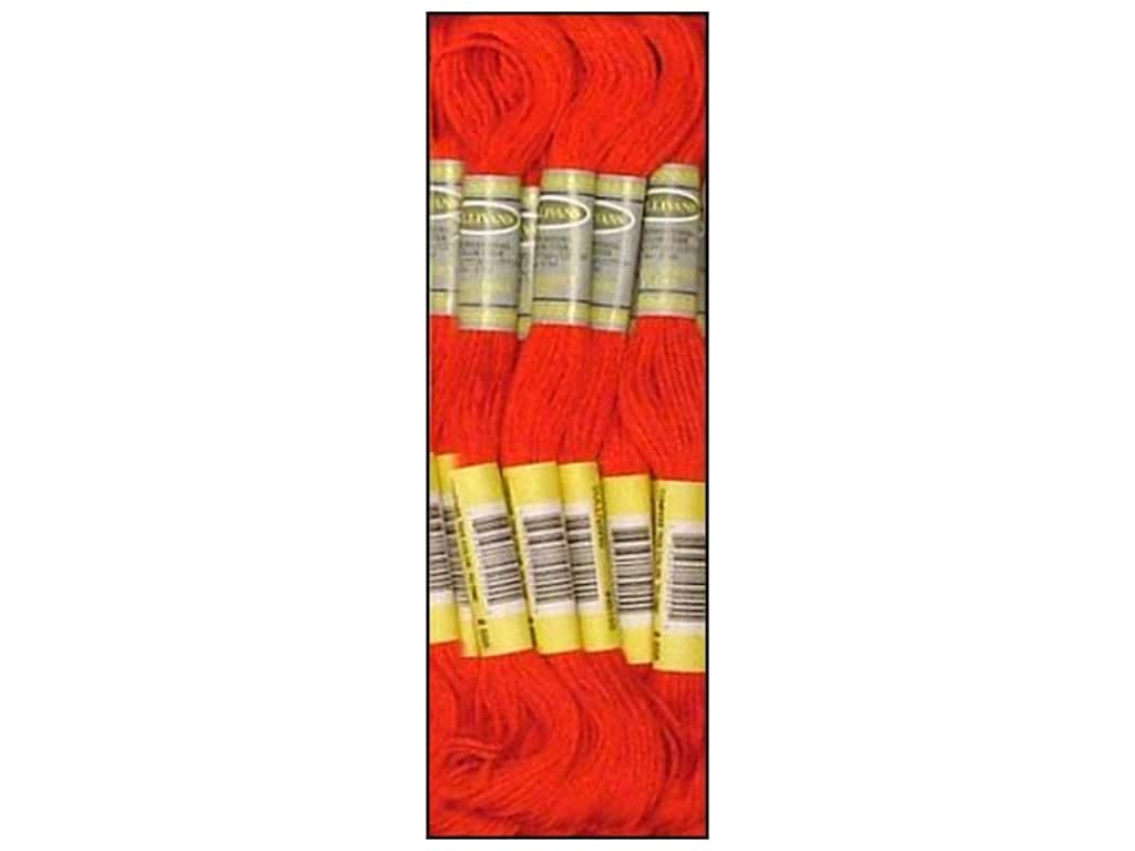Sullivans Six-Strand Embroidery Floss 8.7 yd. Bright Red (12 skeins)