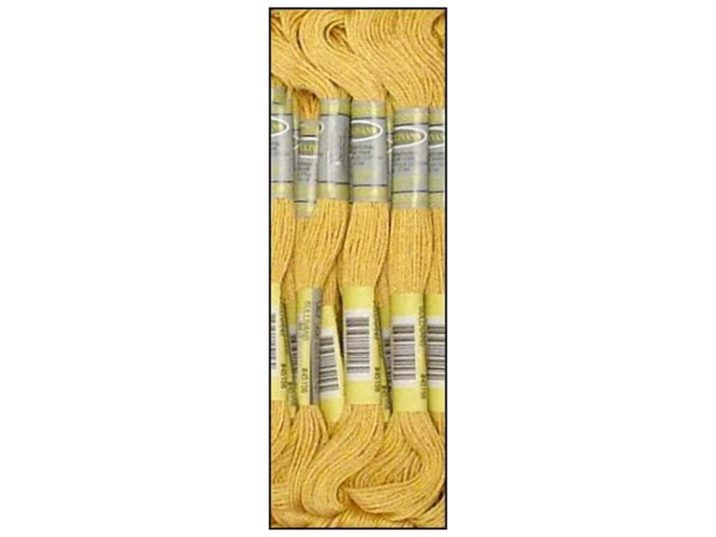 Sullivans Six-Strand Embroidery Floss 8.7 yd. Light Old Gold (12 skeins)