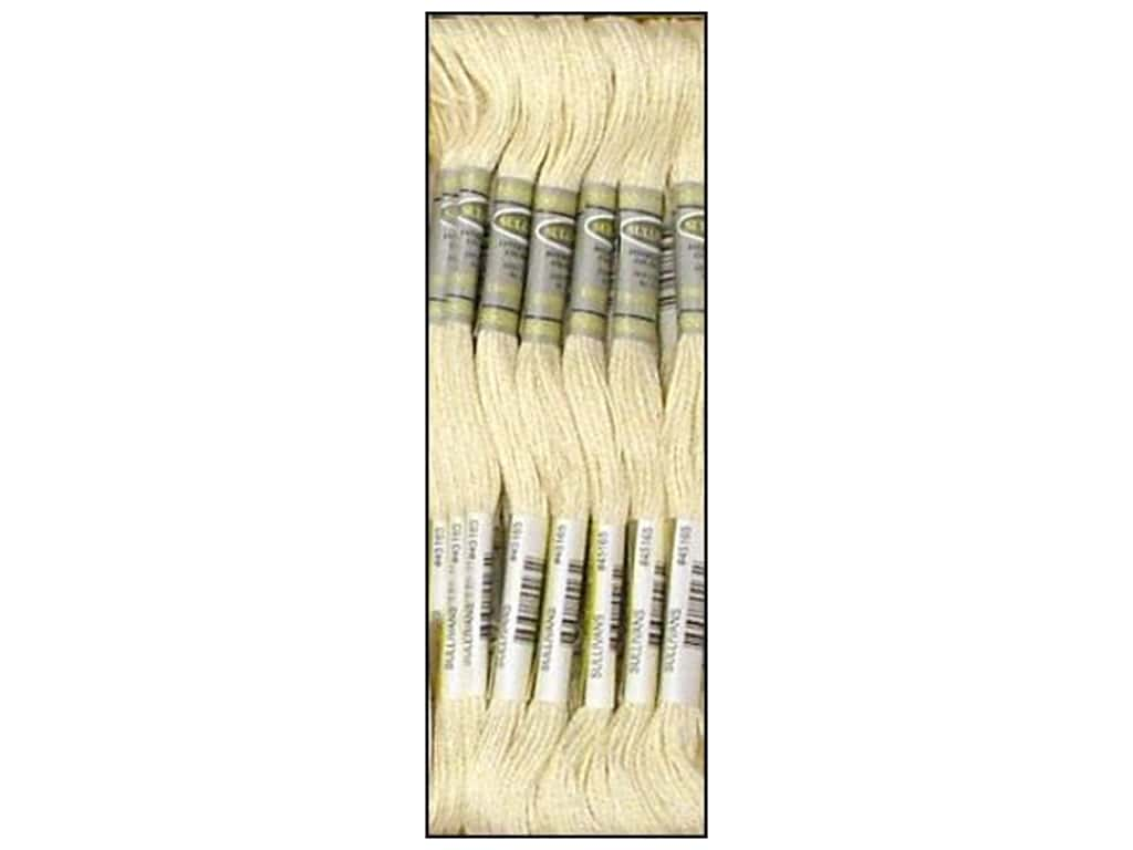 Sullivans Six-Strand Embroidery Floss 8.7 yd. Cream (12 skeins)