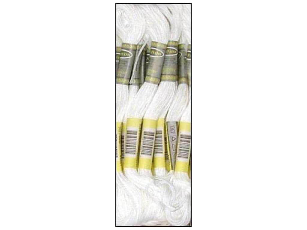 Sullivans Six-Strand Embroidery Floss 8.7 yd. White (12 skeins)