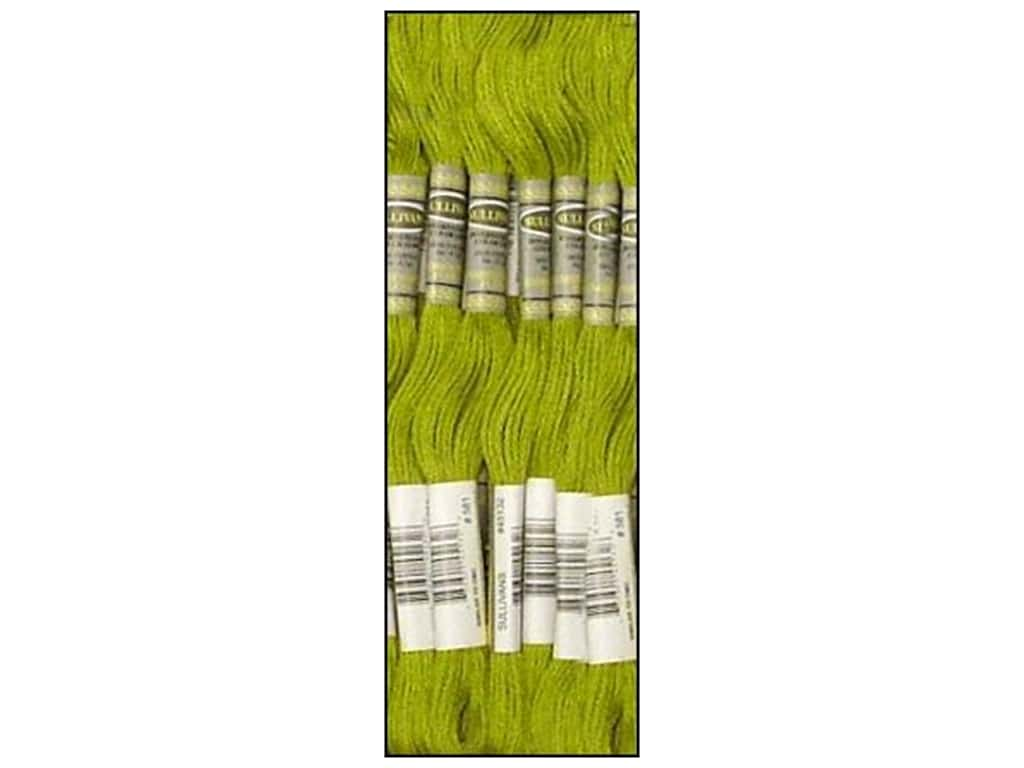 Sullivans Six-Strand Embroidery Floss 8.7 yd. Moss Green (12 skeins)