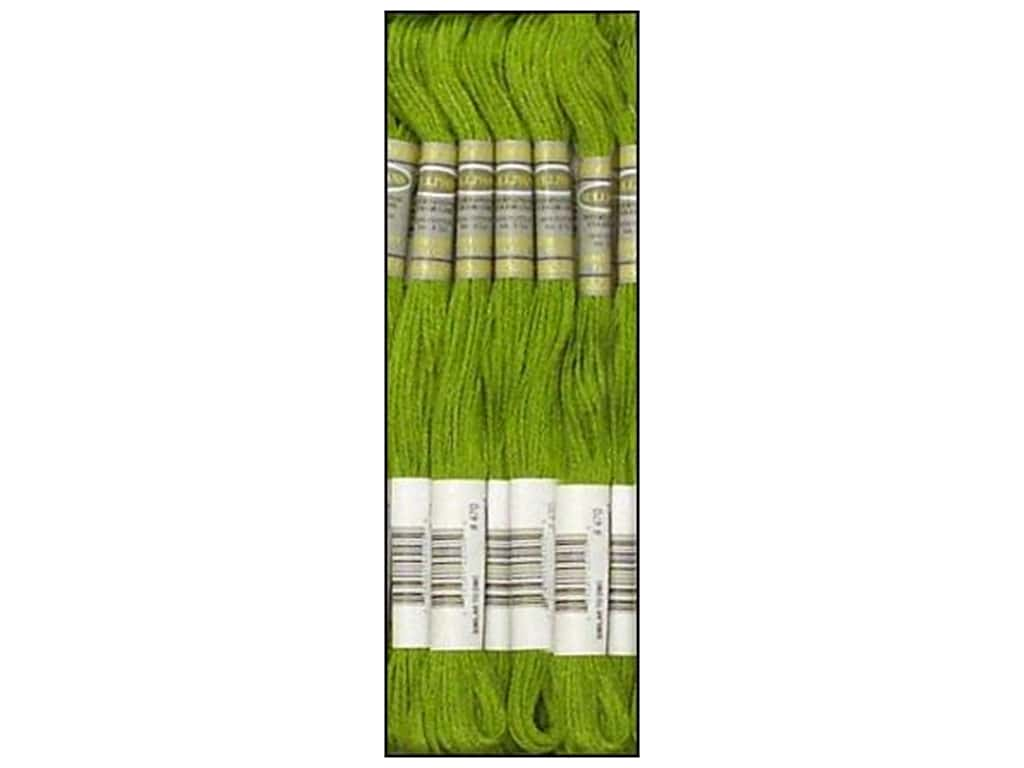 Sullivans Six-Strand Embroidery Floss 8.7 yd. Light Avocado Green (12 skeins)