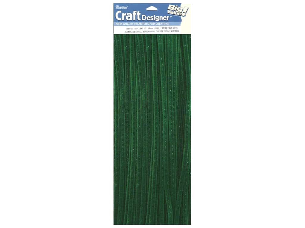 Darice Chenille Stems 6 mm x 12 in. Kelly 100 pc.