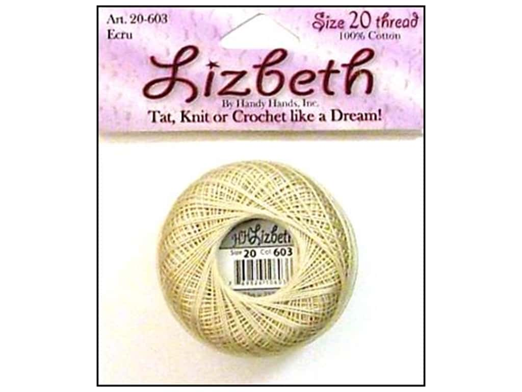 Lizbeth Thread Size 20  #603 Ecru