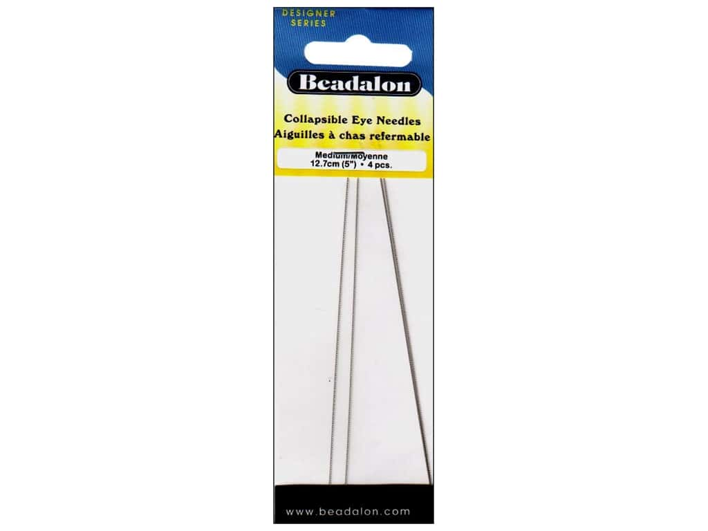 Beadalon Collapsible Eye Beading Needle 5 in. Medium 4 pc