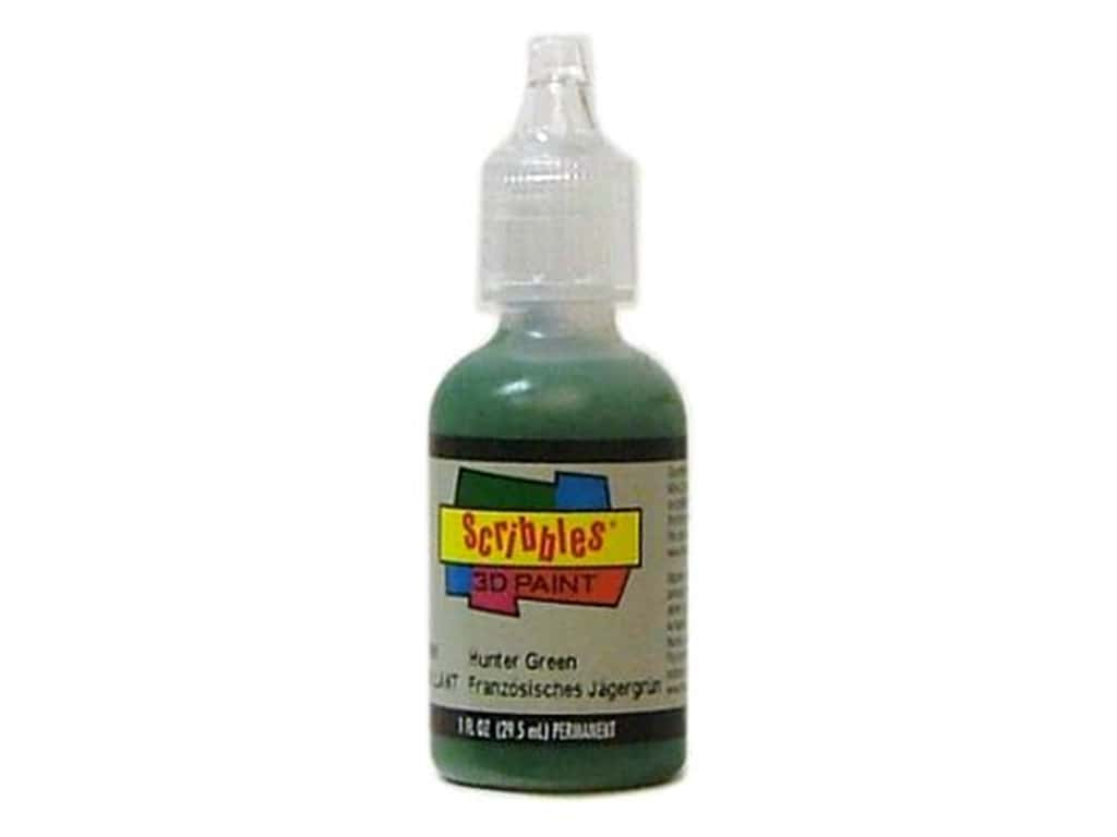 Scribbles 3D Fabric Paint 1 oz. Shiny Hunter Green