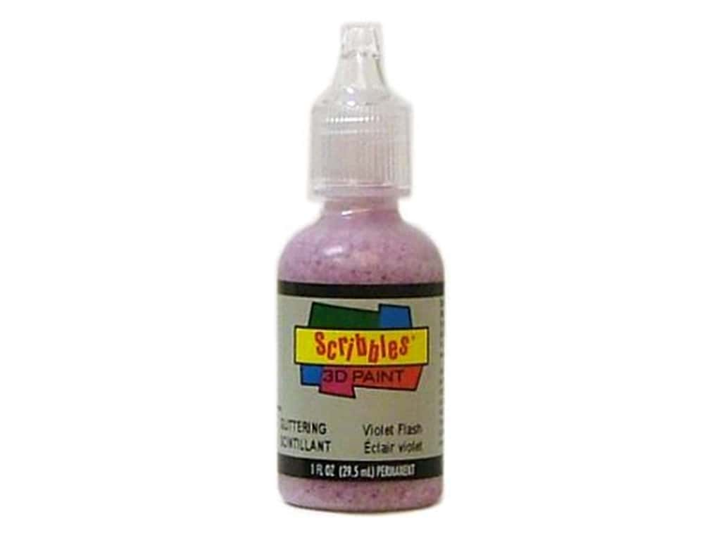 Scribbles 3D Fabric Paint 1 oz. Glittering Violet Flash