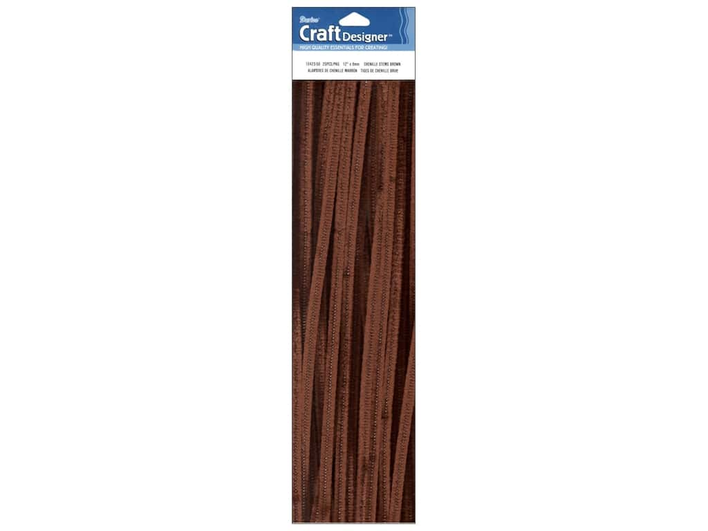 Darice Chenille Stems 6 mm x 12 in. Brown 25 pc.