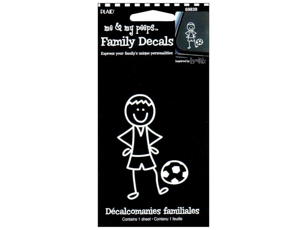 Plaid Peeps Family Decals Soccer Boy