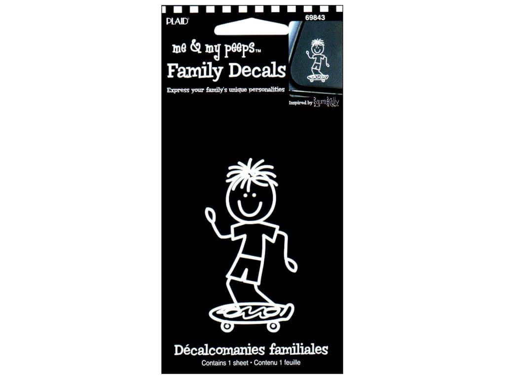 Plaid Peeps Family Decals Skateboard Boy
