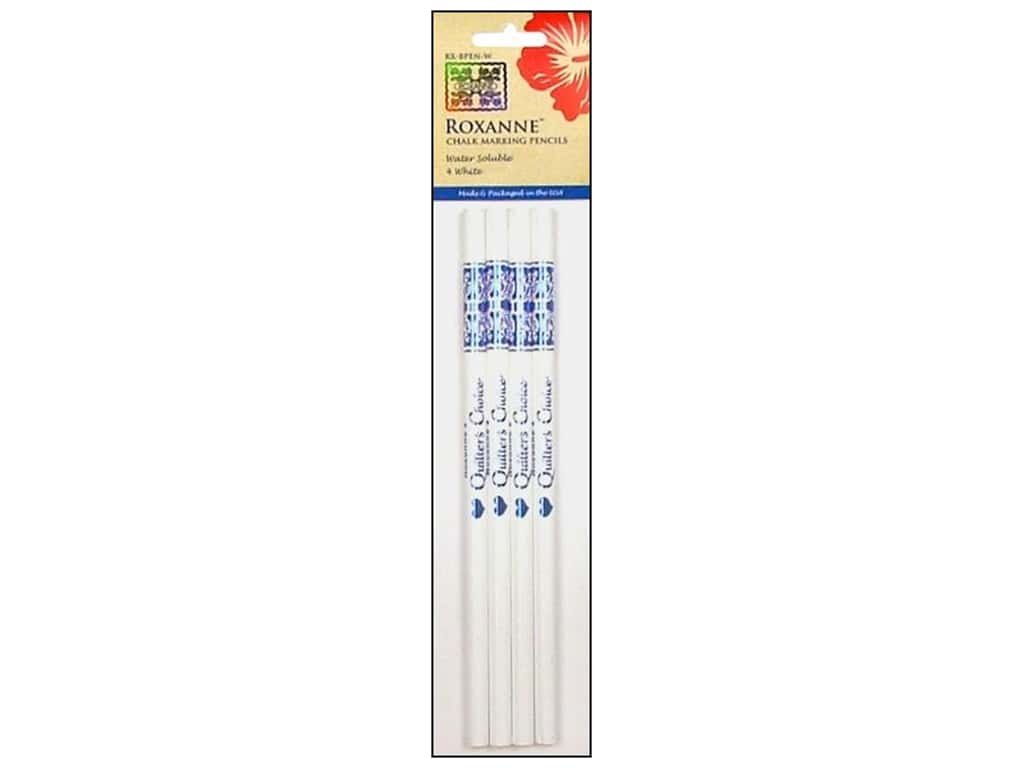 Roxanne Notions Quilters Choice Chalk Marking Pencils White 4 pc