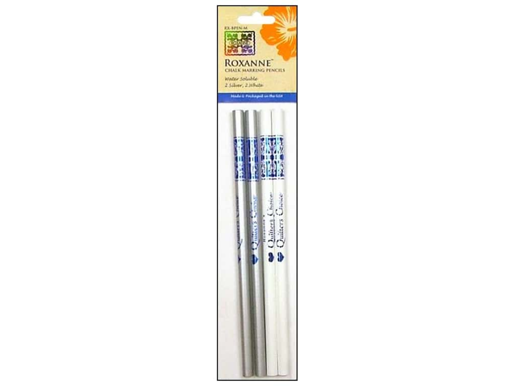 Roxanne Notions Quilters Choice Chalk Marking Pencils White/Silver 4 pc