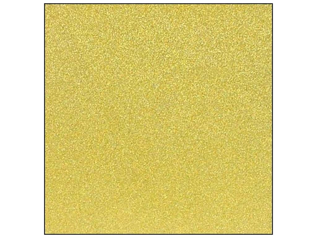 American Crafts 12 x 12 in. Cardstock Glitter Mustard (15 sheets)